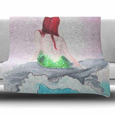 Longing To Be Free by Rebecca Bender Fleece Blanket Size: 80 L x 60 W