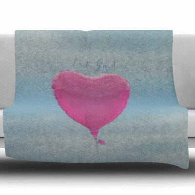 Let Go! by Robin Dickinson Fleece Blanket Size: 80 L x 60 W
