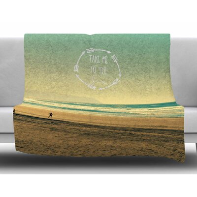 Take Me To The Sea by Robin Dickinson Fleece Blanket Size: 80 L x 60 W