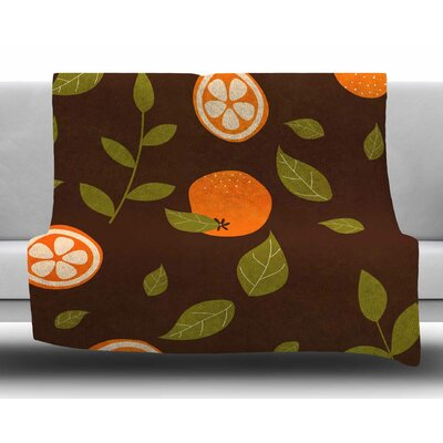 Orange by Strawberringo Fleece Blanket Size: 80 L x 60 W