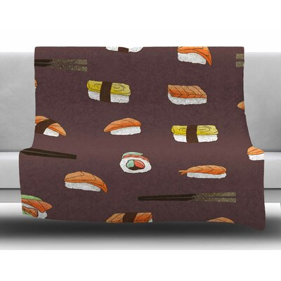 Sushi by Strawberringo Fleece Blanket Size: 40 L x 30 W