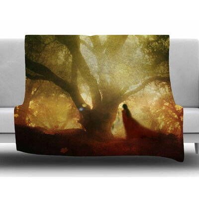 Autumn Song by Viviana Gonzalez Fleece Blanket Size: 80 L x 60 W