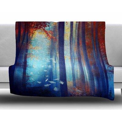Dreams in Blue by Viviana Gonzalez Fleece Blanket Size: 80 L x 60 W