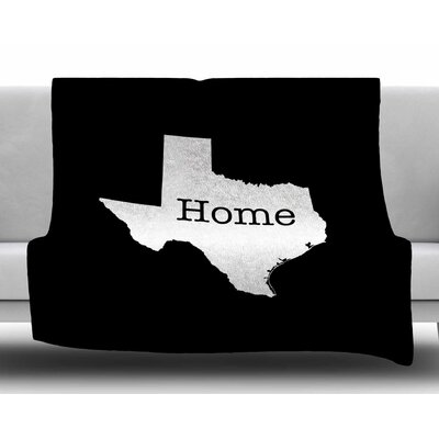 Texas State Outline by Bruce Stanfield Fleece Blanket Size: 80 L x 60 W