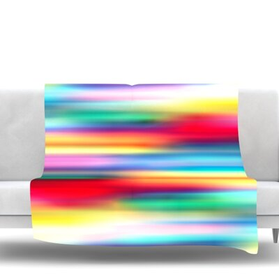 Blurry Cool by Danny Ivan Fleece Blanket Size: 80 L x 60 W