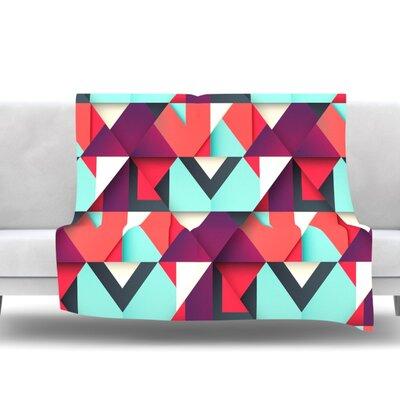 Shapes by Danny Ivan Fleece Blanket Size: 80 L x 60 W