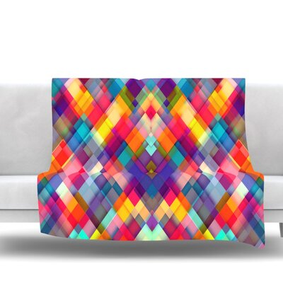 Squares Everywhere by Danny Ivan Fleece Blanket Size: 80 L x 60 W