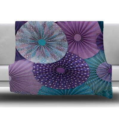 Amethyst Glacier by Heidi Jennings Fleece Blanket Size: 80 L x 60 W