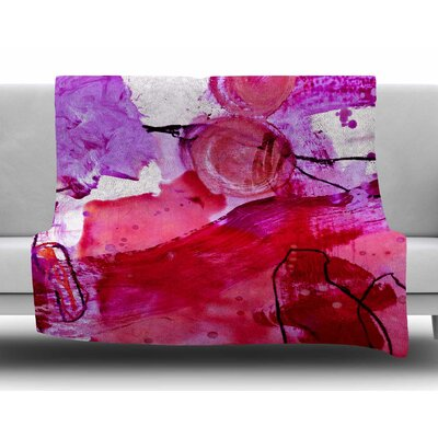 Abstract by Iris Lehnhardt Fleece Blanket Size: 80'' L x 60'' W