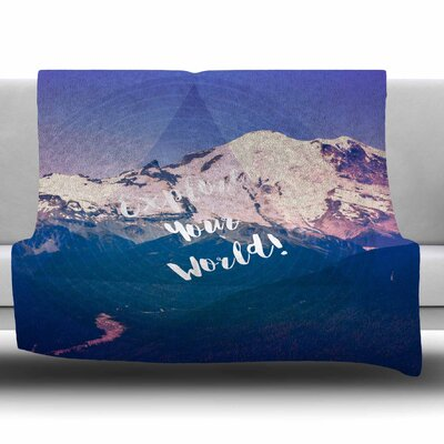 Explore Your World! by Robin Dickinson Fleece Blanket Size: 80 L x 60 W