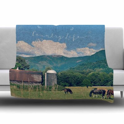 Country Life by Robin Dickinson Fleece Blanket Size: 80 L x 60 W