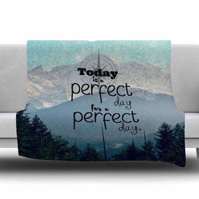 A Perfect Day by Robin Dickinson Fleece Blanket Size: 80 L x 60 W