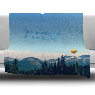 Its A Helluva Life by Robin Dickinson Fleece Blanket Size: 80 L x 60 W