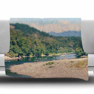 Summertime Float by Robin Dickinson Fleece Blanket Size: 80 L x 60 W