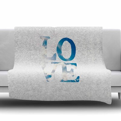 LOVE by Robin Dickinson Fleece Blanket Size: 80 L x 60 W