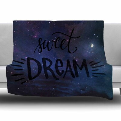Sweet Dream by Robin Dickinson Fleece Blanket Size: 80 L x 60 W