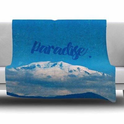 Paradise. by Robin Dickenson Fleece Blanket Size: 80 L x 60 W