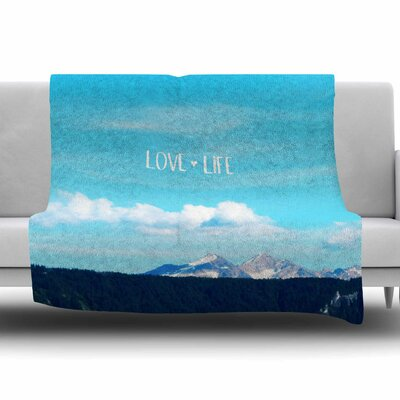 Love Life by Robin Dickinson Fleece Blanket Size: 80 L x 60 W