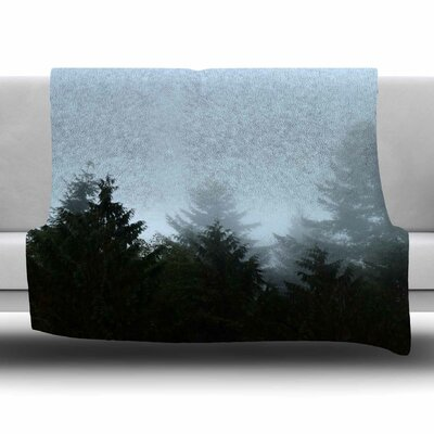 Welcome to Earth by Robin Dickinson Fleece Blanket Size: 40 L x 30 W