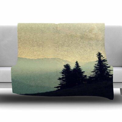 A Wonderful World by Robin Dickinson Fleece Blanket Size: 80 L x 60 W
