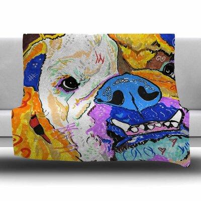 Tucker by Rebecca Fisher Fleece Blanket Size: 80 L x 60 W