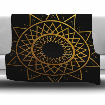Gilded Sundial by Matt Eklund Fleece Blanket Size: 80 L x 60 W