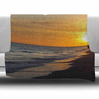 Sunset Beach by Philip Brown Fleece Blanket Size: 80 L x 60 W