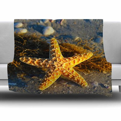 Starfish by Philip Brown Fleece Blanket Size: 80 L x 60 W
