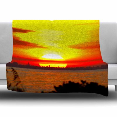 Sunrise On Sanibel by Philip Brown Fleece Blanket Size: 80 L x 60 W
