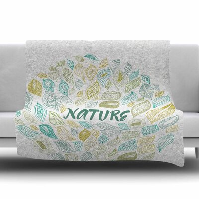 Nature Earth by Pom Graphic Design Fleece Blanket Size: 80 L x 60 W