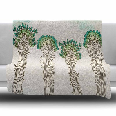 Amazon Trees by Pom Graphic Design Fleece Blanket Size: 80 L x 60 W