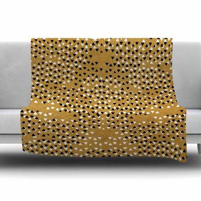 Golden Sky by Pom Graphic Design Fleece Blanket Size: 80 L x 60 W