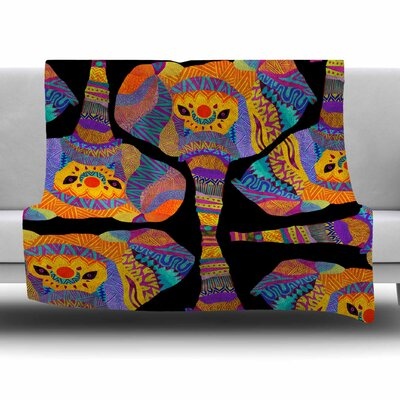 The Elephant in The Room by Pom Graphic Design Fleece Blanket Size: 80 L x 60 W