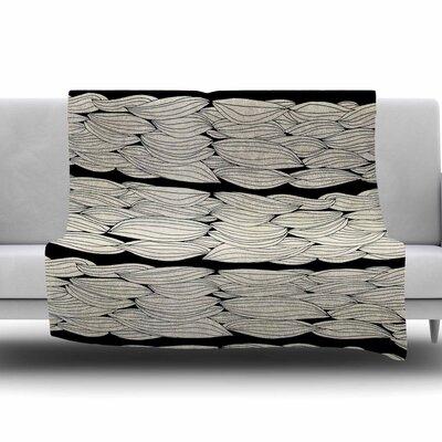 La Luna by Pom Graphic Design Fleece Blanket Size: 80 L x 60 W