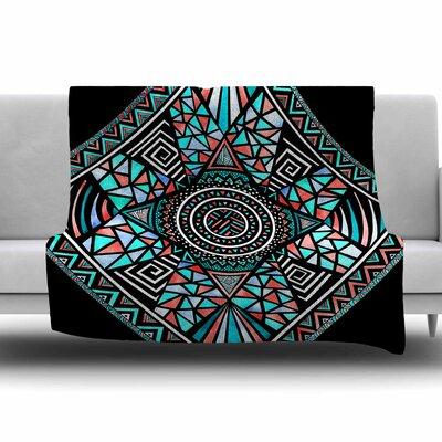 Geo Glass by Pom Graphic Design Fleece Blanket Size: 80 L x 60 W