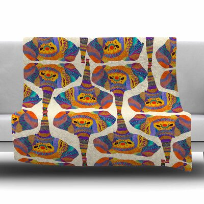 Elephant Play by Pom Graphic Design Fleece Blanket Size: 80 L x 60 W