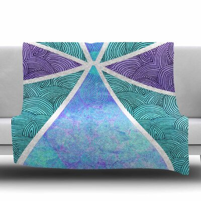 Reflective Pyramids by Pom Graphic Design Fleece Blanket Size: 80 L x 60 W