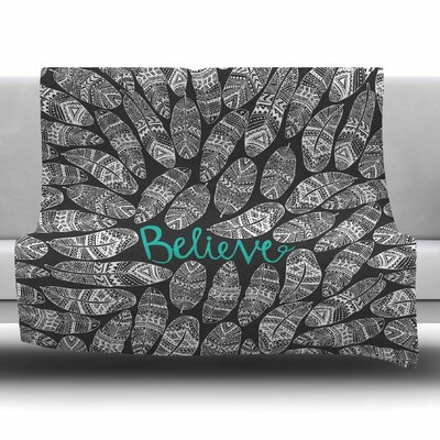 Believe in Yourself by Pom Graphic Design Fleece Blanket Size: 80 L x 60 W