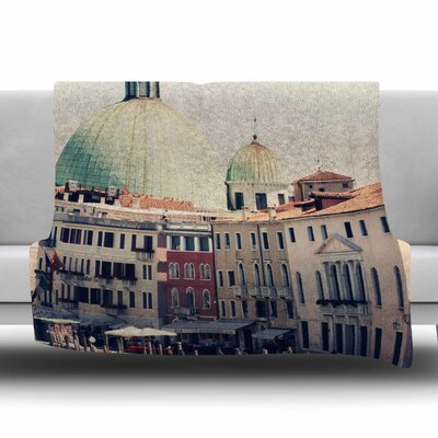 Venice 3 by Sylvia Coomes Fleece Blanket Size: 80 L x 60 W