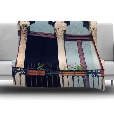 Venice 11 by Sylvia Coomes Fleece Blanket Size: 80 L x 60 W