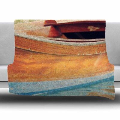 Venetian Boat by Sylvia Coomes Fleece Blanket Size: 80 L x 60 W