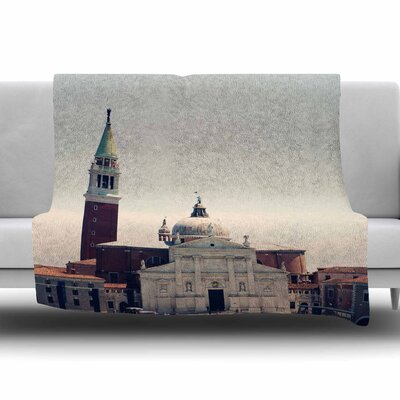 Venice 7 by Sylvia Coomes Fleece Blanket Size: 80 L x 60 W
