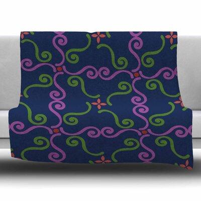 Bracken Square by Setsu Egawa Fleece Blanket Size: 40 L x 30 W