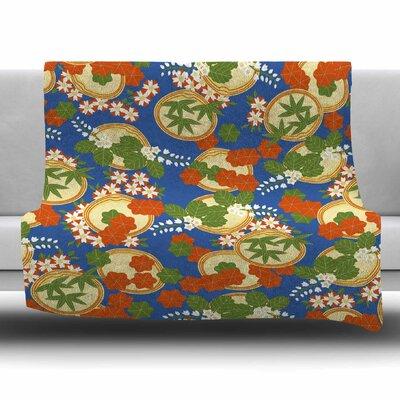 Clam And Paulownia by Setsu Egawa Fleece Blanket Size: 40 L x 30 W