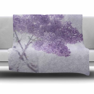Lilacs by Suzanne Harford Fleece Blanket Size: 80 L x 60 W