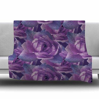 Roses by Shirlei Patricia Muniz Fleece Blanket Size: 80 L x 60 W