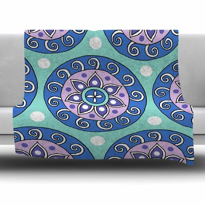 Mandala Dot by Sarah Oelerich Fleece Blanket Size: 80'' L x 60'' W
