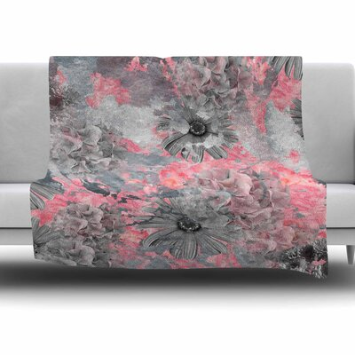 Floral Blush by Zara Martina Mansen Fleece Blanket Size: 80 L x 60 W