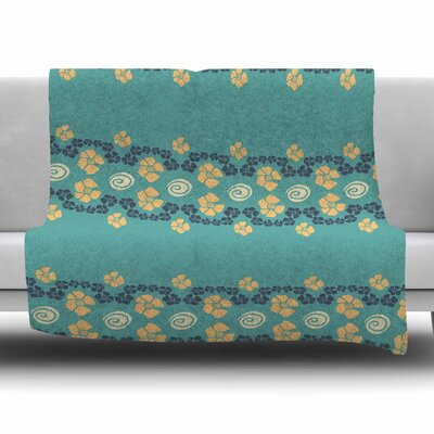 Flora Formations by Zara Martina Mansen Fleece Blanket Size: 80'' L x 60'' W