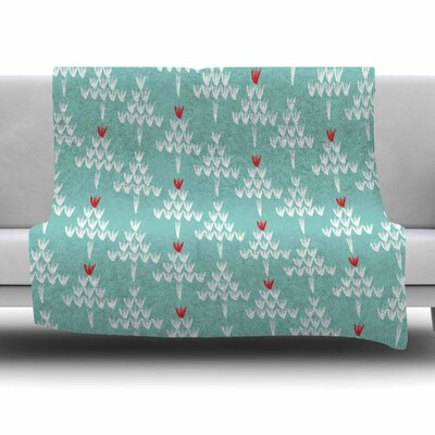 Christmas Blues by Zara Martina Mansen Fleece Blanket Size: 80 L x 60 W